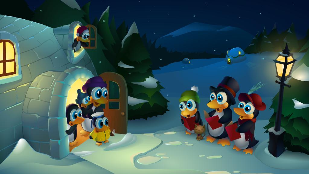 ChristmasTux2014_3840x2160